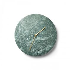 Norm Marble Wall Clock in Green from Dwell (store.dwell.com)