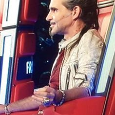 Piero Pelù at The Voice of Italy with his own MB Jewels on!