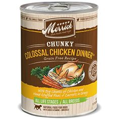 Merrick 12 Count Chunky Colossal Chicken Dinner ~ You can continue to the product at the image link. (This is an affiliate link and I receive a commission for the sales)