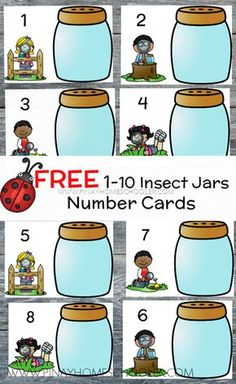 FREE bug counting mats for preschoolers