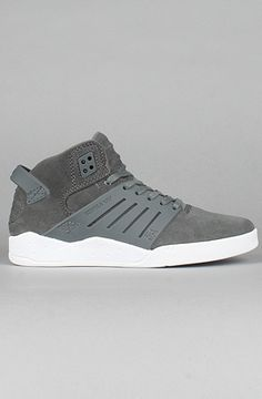 The Skytop III Sneakers in Grey Suede by SUPRA. Use code buck19 to get 20% off the first time you use it and 10% off every time after that! EXPIRES NEVER! #KarmaLoop