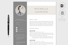 RESUME Template - Cover Letter WORD by PAPPERMINT RESUME STUDIO on @creativemarket Resume Tips, Resume Cv, Resume Design, Business Resume, Resume Examples, Cover Letter Template, Cv Template, Letter Templates, College Resume Template