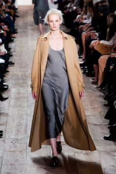 Camel Coat+Grey Silk: Perfect.