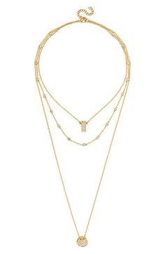 BaubleBar BaubleBar'Ice Tag' Layered Pendant Necklace available at #Nordstrom