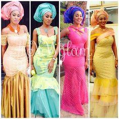 Nigerian wedding ore-iyawo aso-ebi styles special 21