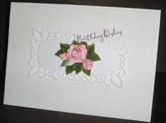Embossed background, die-cut and small decoupaged flower Birthday Wishes, I Card, Frame, Flowers, Home Decor, Picture Frame, Special Birthday Wishes, Decoration Home, Room Decor