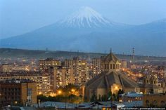 Yerevan and Ararat(stolen by turkey during armenian genocide) #armenia