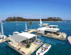 Maritim Homes with Paolo Tmber Pontoon Platforms Floating Architecture, Houseboat Living, Floating Homes, Eden Park, Picnic Tables, Motor Homes, Boat House, Houseboats, Modern Houses