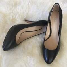COACH CHELSIE Classic Black Pumps Beautiful COACH classic platform pumps  Sold out everywhere don't miss out worn one time, few minor scuffs/marks See picks, in new condition sorry no boxes ✅will Bundle  ✅ ✅ all reasonable offers will be considered No Trading   Poshmark rules only‼️ Ⓜ️ 1/2 inch platform Ⓜ️4 1/2 inch heel Coach Shoes Heels