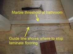 Genial Knowing Where To End Laminate At Doorways Is Good To Know So The Closed  Door Hides