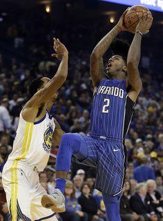 Orlando Magic s Elfrid Payton shoots over Golden State Warriors  Shaun  Livingston 853c5f830