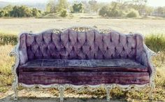 Beautiful Violet Vintage Couch