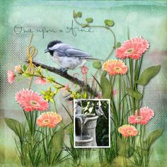 "Chickadees are known to be adorable, curious, and playful birds. The phrase ""my little chickadee"" was coined as a term of endearment for those of us who display similar qualities. . Designed in vibrant Spring colors and full of whimsical elements, ""My Little Chickadee"" digital scrapbooking collection by SnickerdoodleDesigns by Karen is perfect to use when scrapping the antics of those special characters in our lives; but is also versatile enough for all of your Spring pages."