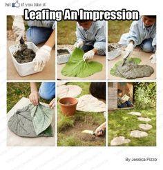Leaf stepping stone