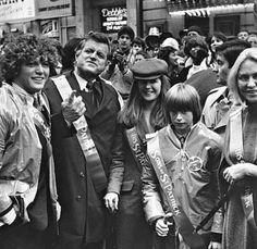 Teddy Jr, Ted, Kara, Patrick & Joan in Chicago, March 17, 1980