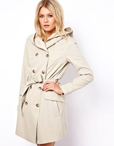 48b5607d63 Image 1 of ASOS Double Breasted Hooded Trench Summer Coats