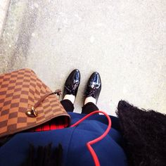 André chaussures x Sac Neverfull Louis Vuitton