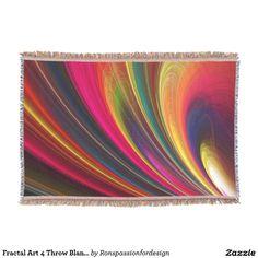 Fractal Art 4 Throw Blanket