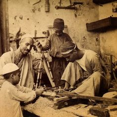 Carpentry shop in Cairo in the late nineteenth century