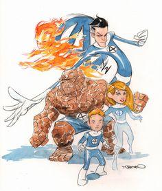 Fantastic Four plus Franklin by Dustin Nguyen.