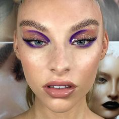 Purple make up Makeup Goals, Makeup Inspo, Makeup Art, Makeup Tips, Beauty Makeup, Makeup Ideas, Makeup Geek, Basic Makeup, Beauty Dupes