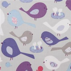 grey Tweet Together fabric bird nest from USA 2