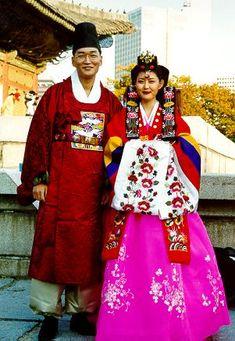 korean historical wedding  costume