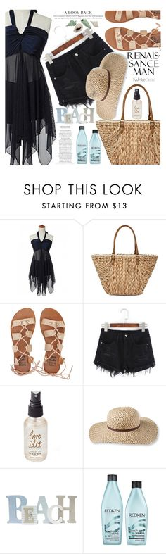 """""""Style on a hot day"""" by vanjazivadinovic ❤ liked on Polyvore featuring Straw Studios, Billabong, Olivine, L.L.Bean, Redken, polyvoreeditorial and twinkledeals"""