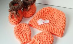 Strickanleitung Baby-Set, Mütze, Schuhe, Handschuhe, ca. 2 - 7 Monate