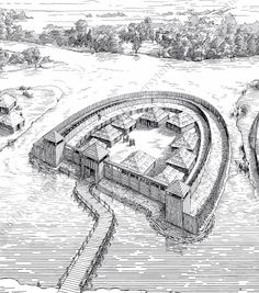 Medieval West Slavic gord (fortified settlement) in Spandau, disctrict of Berlin, Germany.