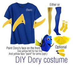 DIY Dory costume by lindsayyt8 on Polyvore featuring polyvore and art