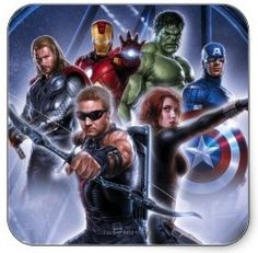 The Avengers Movie stickers with all the superhero's