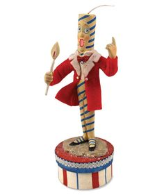 Hilarious Firecracker Man designed by Allen Cunningham. Whimsical decorations for a 4th of July party.