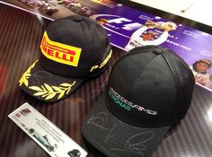 Signed Lewis Hamilton Bahrain caps here at Memorabilia Outlet today! Nelson  Piquet 77eb62cb1195