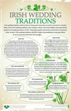Wedding irish wedding traditions info graphic - Irish wedding traditions date far back in history and many have survived in one form or another today. These Irish wedding traditions were rooted in nature came from folklore and superstitions for … Celtic Wedding, Our Wedding, Irish Wedding Rings, Wedding Punch, Pagan Wedding, Trendy Wedding, Wedding Shot, Irish Wedding Toast, Irish Wedding Dresses