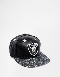 New Era 59Fifty Raiders Snapback Cap in Faux Leather
