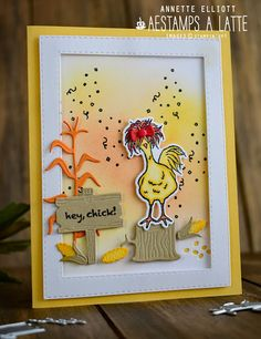 Hand Made Greeting Cards, Making Greeting Cards, Farm Quilt, Crazy Bird, Chickens And Roosters, Bird Cards, Stamping Up Cards, Animal Cards, Cool Cards