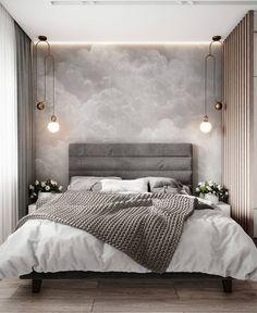 Modern Bedroom Inspirations Beds Ideas For 2020 Lounge Design, Design Room, Design Hotel, Gray Bedroom, Home Decor Bedroom, Bedroom Ideas, Master Bedroom, Bedroom Inspiration, Bedroom Designs