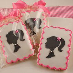 Girl Silhouette Cookies 12 Decorated Sugar Cookies by TSCookies
