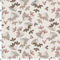 Neutral Ground - Simple Flowers Pink from Maywood Studio Maywood Studio, Simple Flowers, Quilt Patterns, Taupe, Neutral, Quilts, Fabric, Projects, Pink