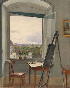 Jakob Alt - le studio de l'artiste 1836