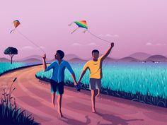 Indian Illustration, Landscape Illustration, Portrait Illustration, Digital Illustration, Pop Art Pictures, Cute Cartoon Pictures, Artistic Wallpaper, Animated Love Images, Boat Art