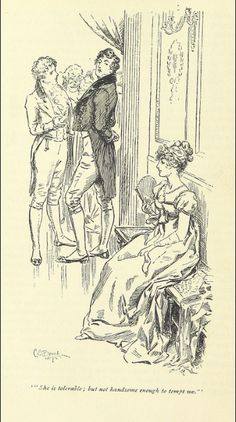 Pride and Prejudice by Jane Austen - Volume I, Chapter III Pride And Prejudice Characters, Zombies, Jane Austen Novels, Elizabeth Bennet, Mr Darcy, Classic Literature, Chapter 3, British Library, Period Dramas