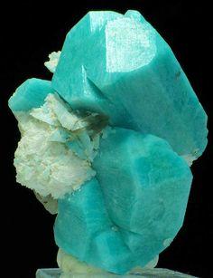 Amazonite with Cleavelandite and Smoky Quartz - Colorado #preciousstones