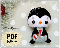 This is a digital tutorial on how to make the Penguin Christmas ornament from felt Included step by step instructions, pictures and full size pattern pieces. (no need to enlarge or resize). Its completely hand sew and you dont need a sewing machine. THIS IS NOT A FINISHED TOY. THIS IS A PDF PATTERN DOWNLOAD. All needed materials you must to purchase yourself. Approx. size of toy is: about 4.4 inch (11 cm) tall. PDF tutorial includes: - Step by step pictures - English step by step instruct...