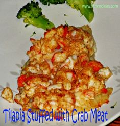 Tilapia Topped with Crab Meat