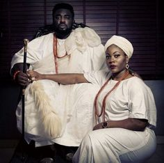 """Lovely Couple Release Ooni Of Ife Inspired Pre-wedding Photos... And They Look Sweet   There are no rules; do what appeals to you. That was how Kingsley and his lady Oyin decide to stick with the rich African culture for their pre-wedding photos with the Ooni of Ife as their inspiration.Read what the excitedbride-to-be has this to say about her man: """"No I'm not lucky I'm blessed! Some years ago all I saw in you was just a business partner / colleague later I saw in you a gist partner and…"""