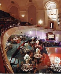 What an interesting idea -- a wedding reception in an old theater