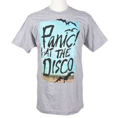 Panic! At The Disco Men's Bats Slim Fit T-Shirt