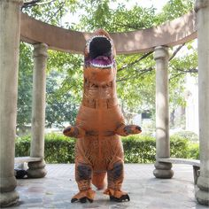 Buy Dinosaur T-REX Inflatable Costume Jurassic Park World Blowup Cosplay Adult Suit at online store Halloween Toys, Halloween Dress, Halloween Party, Funny Halloween, Up Costumes, Mascot Costumes, Inflatable Costumes, Halloween Inflatables, Jurassic Park World